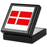 Danish / Denmark Flag Keepsake Box
