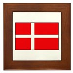 Danish / Denmark Flag Framed Tile