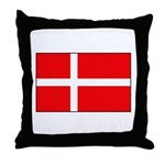 Danish / Denmark Flag Throw Pillow