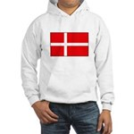 Danish / Denmark Flag Hooded Sweatshirt