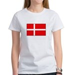 Danish / Denmark Flag Women's T-Shirt