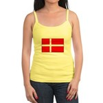 Danish / Denmark Flag Jr. Spaghetti Tank
