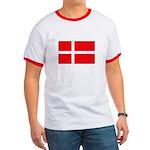Danish / Denmark Flag Ringer T