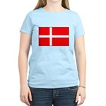 Danish / Denmark Flag Women's Light T-Shirt