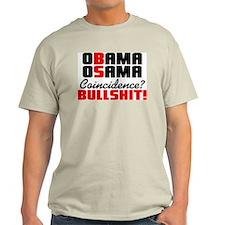 """Obama - Osama: BS"" Color T-Shirt"
