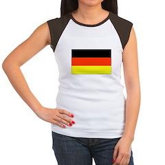 German Flag Women's Cap Sleeve T-Shirt