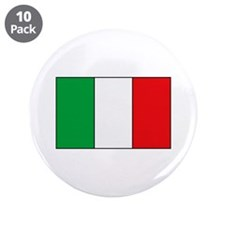 "Italian Flag 3.5"" Button (10 pack)"
