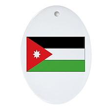 Jordan Flag Oval Ornament
