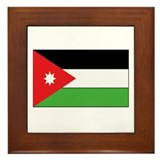Jordanian flag Framed Tiles