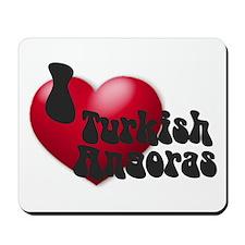 'I Love Turk-Angs!' Mousepad