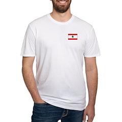 Lebanese Flag Fitted T-Shirt