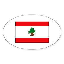Lebanese Flag Oval Decal