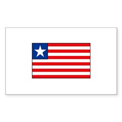 Liberian Flag Rectangle Sticker 50 pk)