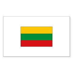 Lithuanian Flag Rectangle Sticker 10 pk)