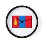 Mongolian Flag Wall Clock