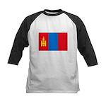 Mongolian Flag Kids Baseball Jersey
