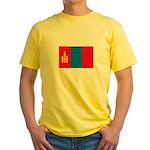 Mongolian Flag Yellow T-Shirt