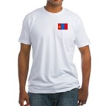Mongolian Flag Fitted T-Shirt
