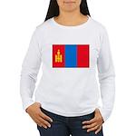 Mongolian Flag Women's Long Sleeve T-Shirt