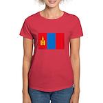 Mongolian Flag Women's Dark T-Shirt