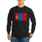 Mongolian Flag Long Sleeve Dark T-Shirt