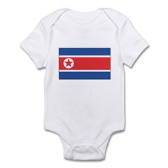 North Korean Flag Infant Bodysuit