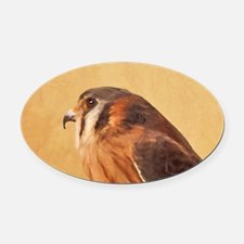 American Kestrel Oval Car Magnet