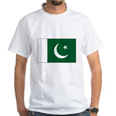 Pakistan Flag White T-Shirt