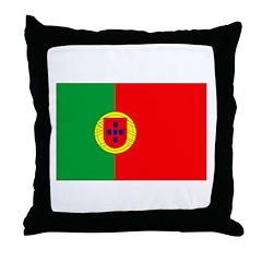 Portuguese Flag Throw Pillow
