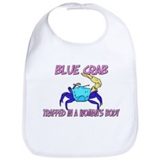 Blue Crab Trapped In A Woman's Body Bib