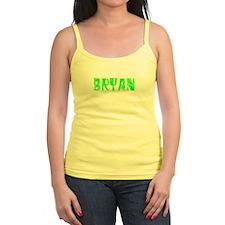 Bryan Faded (Green) Jr.Spaghetti Strap