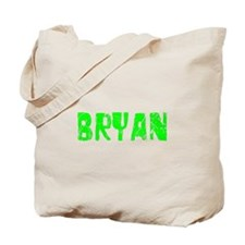 Bryan Faded (Green) Tote Bag