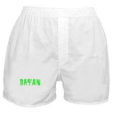 Bryan Faded (Green) Boxer Shorts