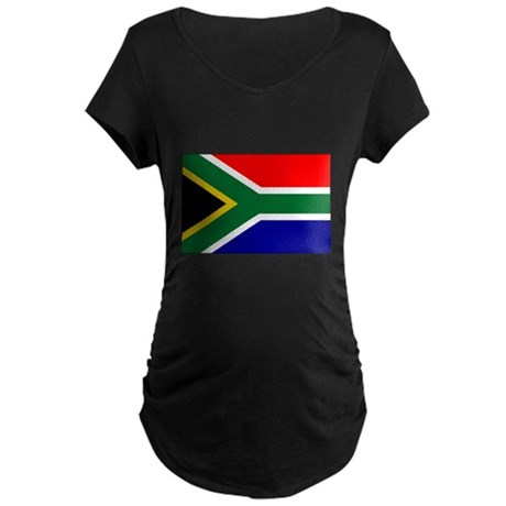 South African Flag Maternity Dark T-Shirt