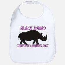 Black Rhino Trapped In A Woman's Body Bib
