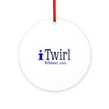 i Twirl Ornament (Round)
