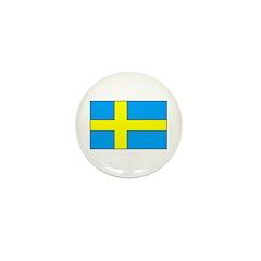 Swedish Flag Mini Button (100 pack)