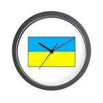 Ukranian Flag Wall Clock