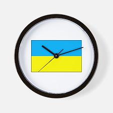 Ukranian Flag Wall Clock