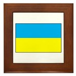 Ukranian Flag Framed Tile