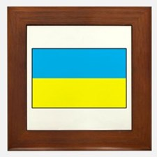 Ukranian Flag Framed Tile