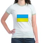 Ukranian Flag Jr. Ringer T-Shirt