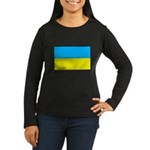 Ukranian Flag Women's Long Sleeve Dark T-Shirt