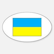Ukranian Flag Oval Decal