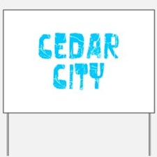 Cedar City Faded (Blue) Yard Sign