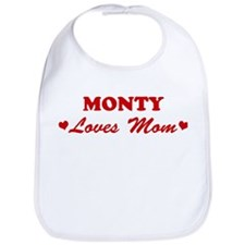 MONTY loves mom Bib