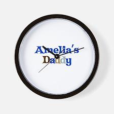 Amelia's Daddy Wall Clock