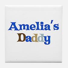 Amelia's Daddy Tile Coaster