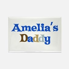 Amelia's Daddy Rectangle Magnet