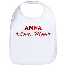 ANNA loves mom Bib
